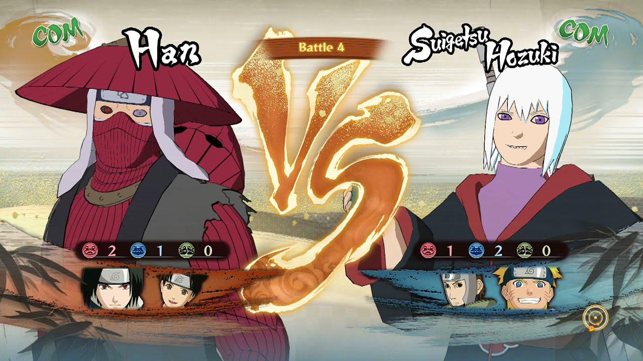 Naruto Shippuden: Ultimate Ninja Storm 4, Han/Young Sasuke/Tenten VS Suigetsu/Yamato/Young ...