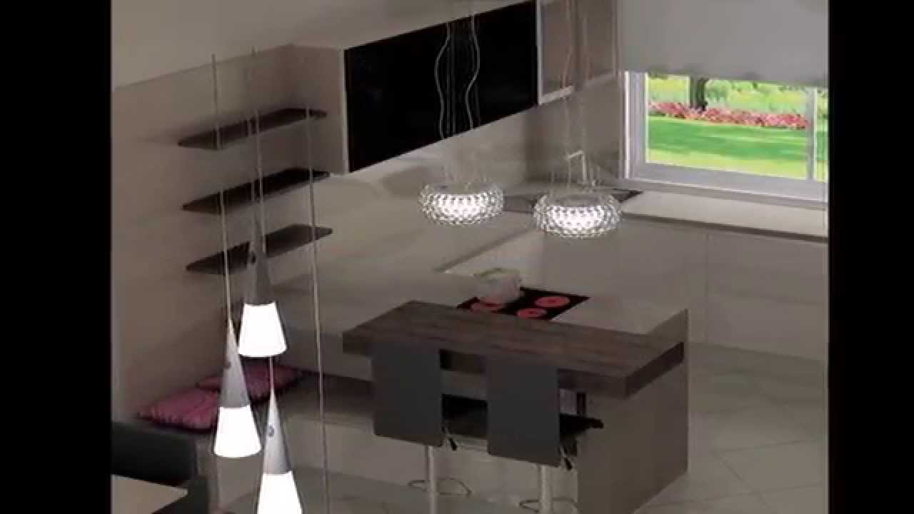 www.nonoart.hu, Modern Konyha-Nappali-Étkező, Kitchen Design - YouTube