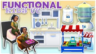 BOOSTER SEATS?! NEW FUNCTIONAL ITEMS FOR TODDLERS AND CHILDREN | The Sims 4 CC Showcase