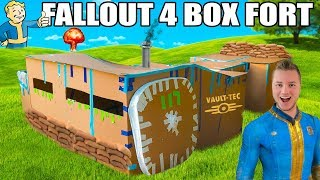 FALLOUT 4 BOX FORT VAULT   24 Hour Challenge Running Water, Electricity More