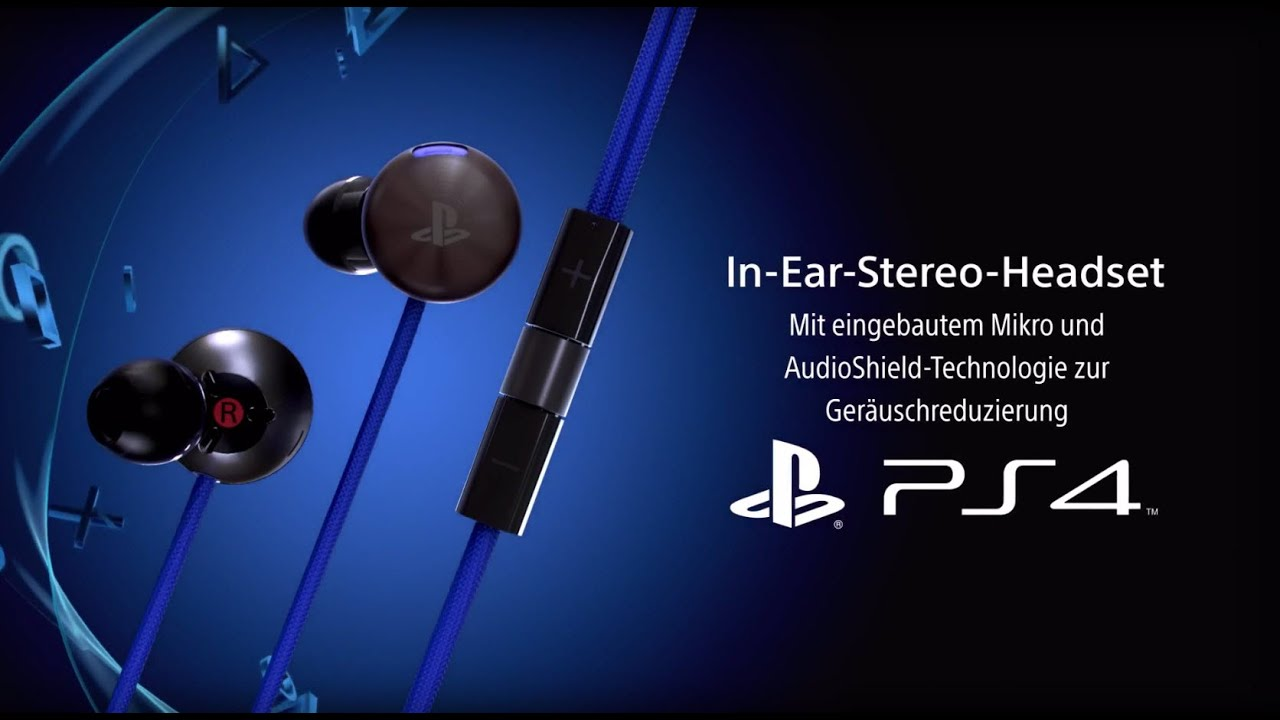 in ear stereo headset f r ps4 youtube. Black Bedroom Furniture Sets. Home Design Ideas