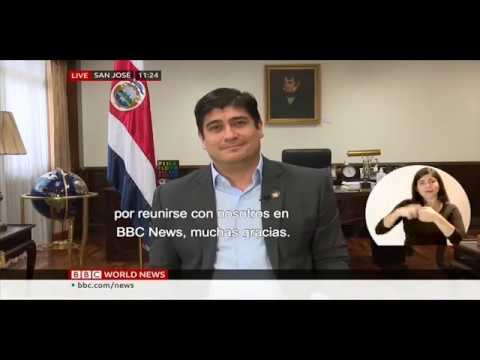 Carlos Alvarado president of Costa Rica interviewed by BBC about COVID-19 & climate change.