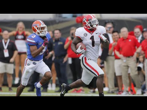 Georgia Bulldogs Vs. Florida Gators | 2017 College Football Highlights