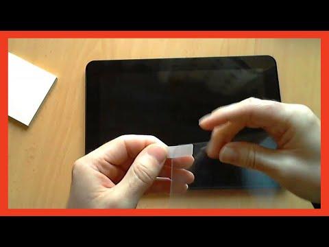 Cómo colocar un protector de pantalla en nuestra tablet