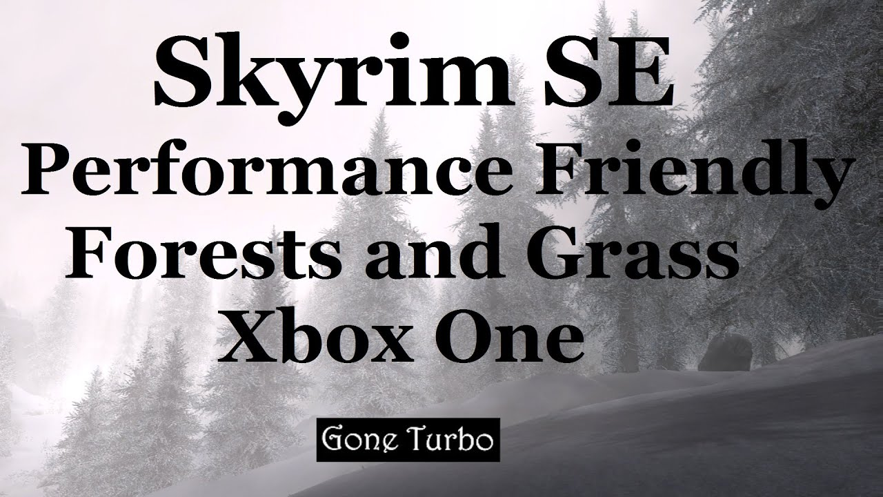 Skyrim SE- Performance Friendly Forests and Grass- Xbox One