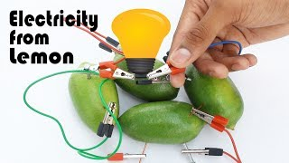 Lemon Battery - How to make a lemon battery - Lemon Electrolytes - Lemon battery experiment