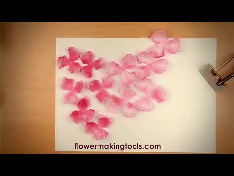 "DIY How to create fabric flowers: Lesson#2 ""China Rose"""