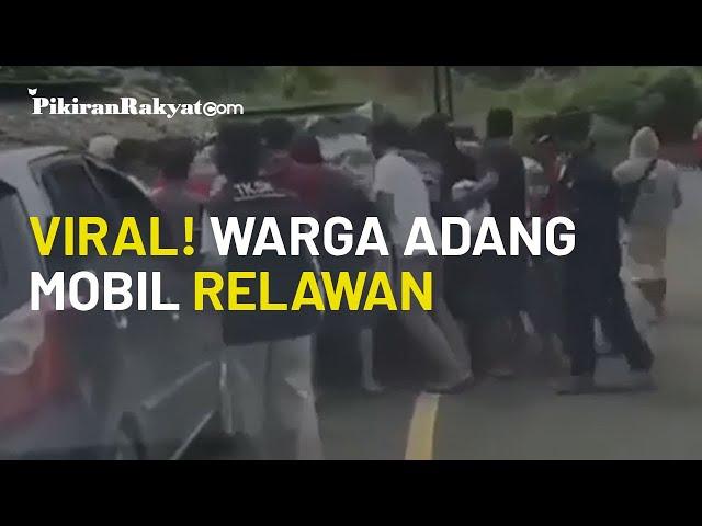 [Video Viral!] Warga Terdampak Bencana di Sulbar Adang Mobil Relawan yang Membawa Barang Logistik
