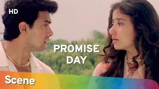 Aamir Khan & Manisha Koirala promise to meet   Romantic Scene   Mann    Valentine's Day