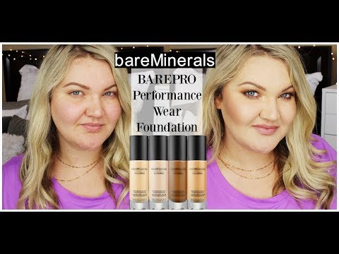 NEW BareMinerals BarePRO Performance Wear Liquid Foundation | Wear Test + First Impressions