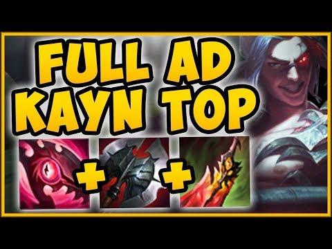 WTF  AD KAYN TOP = INSTA STACK PASSIVE STRAT?? KAYN SEASON 9 TOP GAMEPLAY - League of Legends