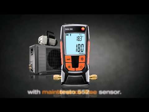 Efficient evacuation of refrigeration systems: testo 552 | Be sure. Testo