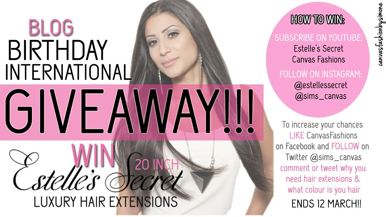 Hair Extensions Giveaway Closed South African Beauty Blogger