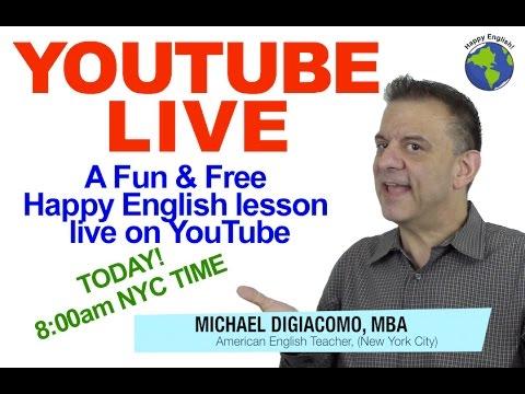 Michael DiGiacomo Live Stream English Lesson
