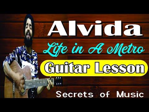 alvida | Guitar lesson | Life in a metro - YouTube