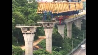 國工局 國道1號 五楊高架路段工程 工法影片