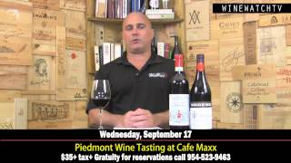 Piedmont Wine Tasting at Cafe Maxx Wed Sept 17