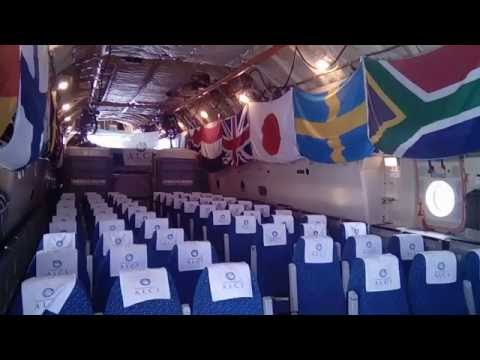IL76 cockpit tour in Antarctica