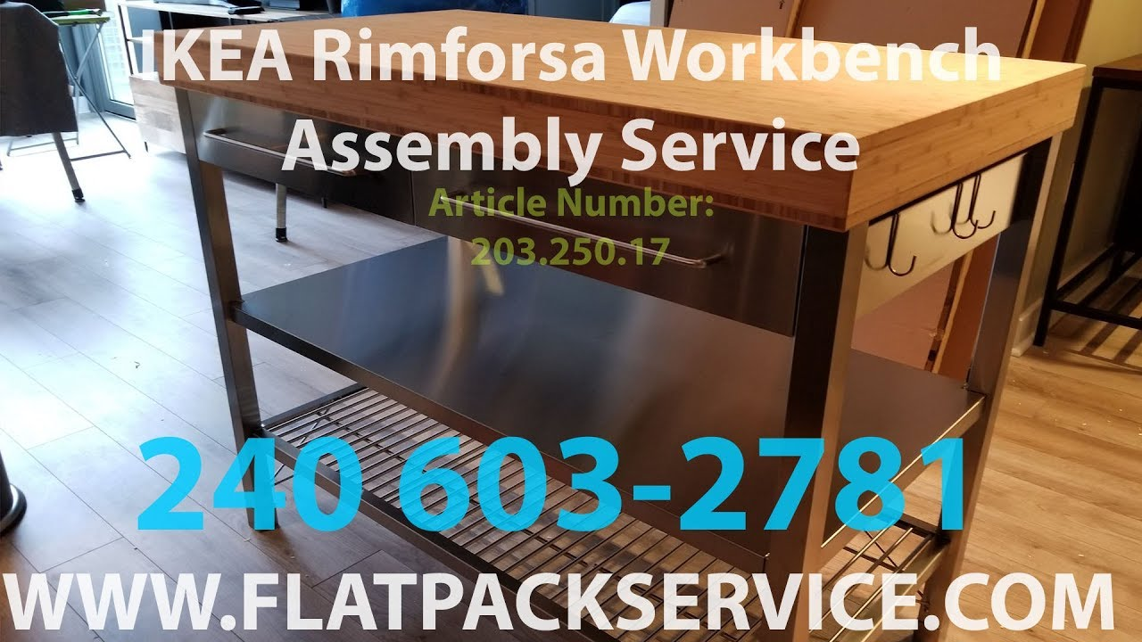 Ikea rimforsa work bench assembly video by flatpack for Ikea rimforsa work bench