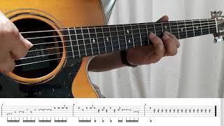 [기타레슨]멜로디연습/비오는거리/서영은/전주,간주/타브…
