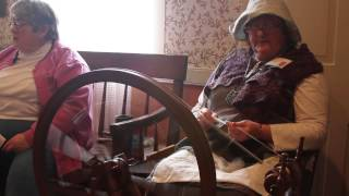 Antique Spinning Wheel Showcase