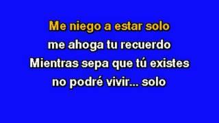 Luis Miguel   Me Niego A Estar Solo (Karaoke)