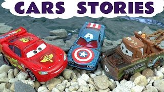cars stories with avengers thomas and friends minions   prank play doh batman and surprise eggs