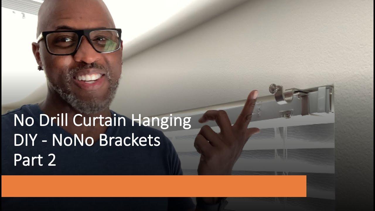 no drill curtain hanging diy nono brackets part 2
