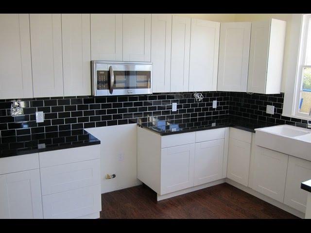 Backsplash Ideas For Black Granite Countertops And White Cabinets Youtube
