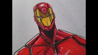 Iron man Marvel Civil War 2 Drawing