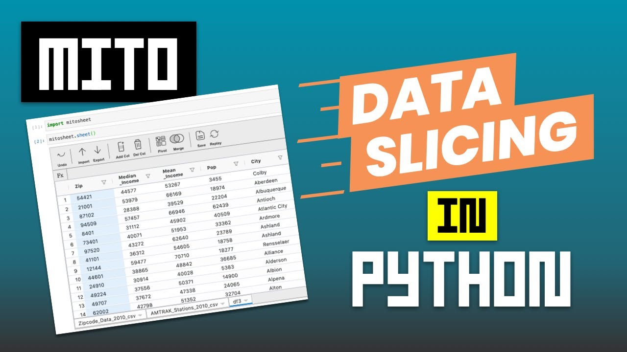 Data Slicing in Python with Mito