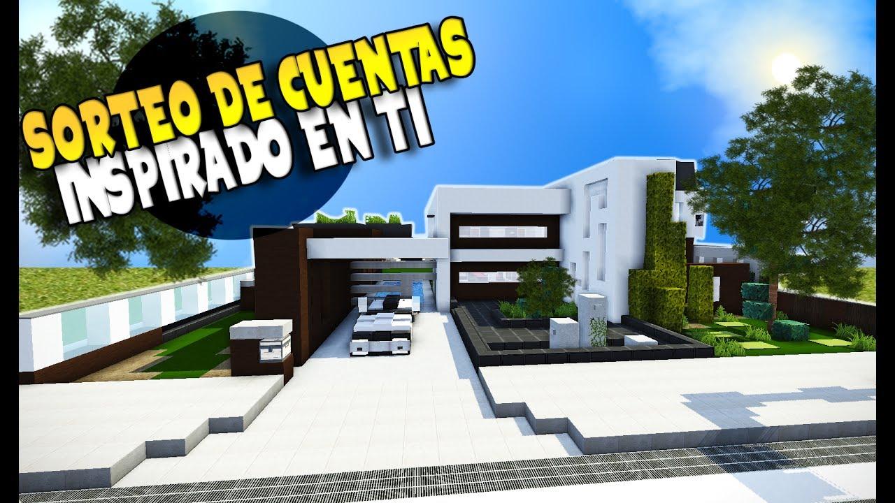 Minecraft la casa moderna con alberca sorteo 3 cuentas for La casa moderna
