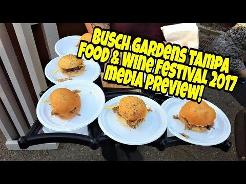 Busch Gardens Tampa Food And Wine Festival 2017 Media