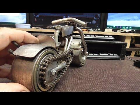 how i built my bike ..( steel art ) headache part two
