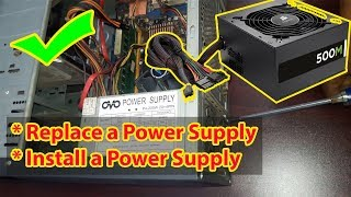 How to Change Power Supply in Desktop   Replace a Power Supply   Install a Power Supply