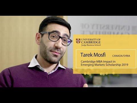 Impact in Emerging Markets Scholarship recipient Tarek Mosfi Canada Syria Cambridge MBA 2019