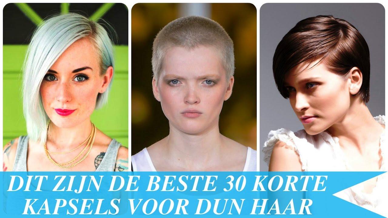 Beroemd Dit zijn de beste 30 korte kapsels voor dun haar - YouTube @WZ26
