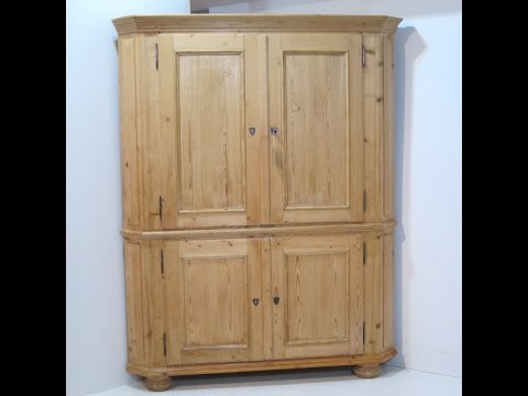 Very Large 19th Century Antique Corner Cupboard for sale - Pinefinders Old Pine Furniture Warehouse