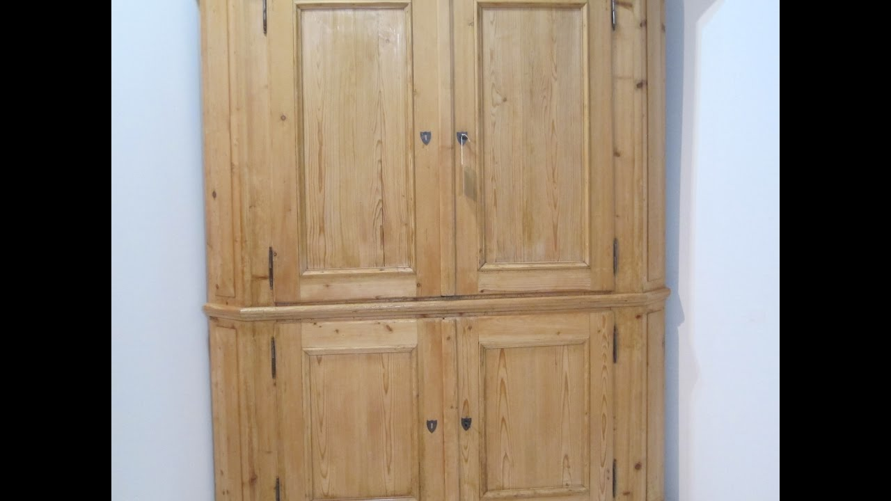 Very Large 19th Century Antique Corner Cupboard for sale - Pinefinders Old  Pine Furniture Warehouse - Very Large 19th Century Antique Corner Cupboard For Sale