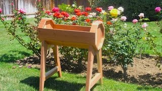 A Redwood Barrel Planter