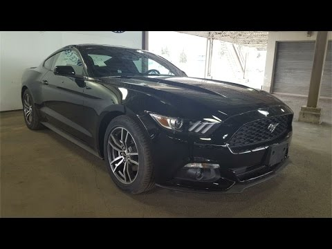 Black 2017 Ford Mustang Ecoboost Fastback Review Prince George Bc Motors