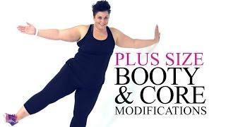 Booty Core Legs Plank Modification - plus size - workout - episode 6