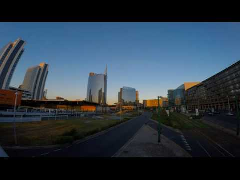 Sunset Time Lapse Unicredit Tower Milan