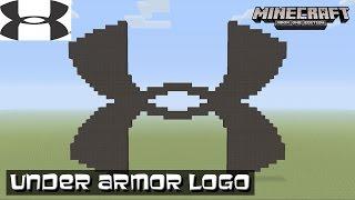 Minecraft: Pixel Art Tutorial: Under Armor Logo