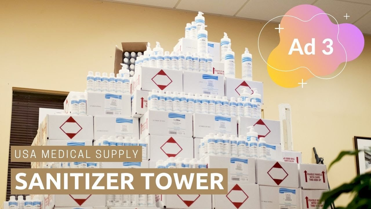 Sanitizer Tower | USA Medical Supply | Ad 3