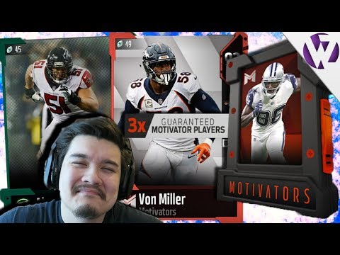 JUMBO MOTIVATORS PACK OPENING + 93 OVR FOOTBALL OUTSIDERS PULL! - Madden 18 Motivators Pack Opening