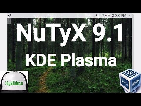 NuTyX Linux 9.1 Installation + KDE Plasma + Apps on Oracle VirtualBox [2017]