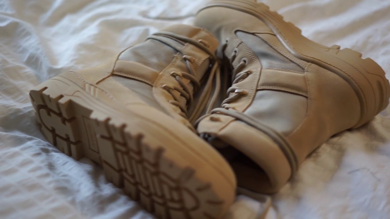 4811fa531 YEEZY SEASON 4 COMBAT BOOT UNBOXING + ON FOOT - YouTube