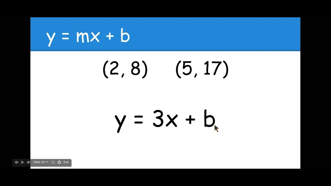 how to find slope intercept form with two points