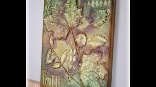 Mixed Media Leaf Canvas